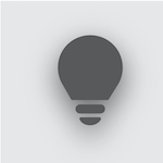 Icon of a lightbulb.
